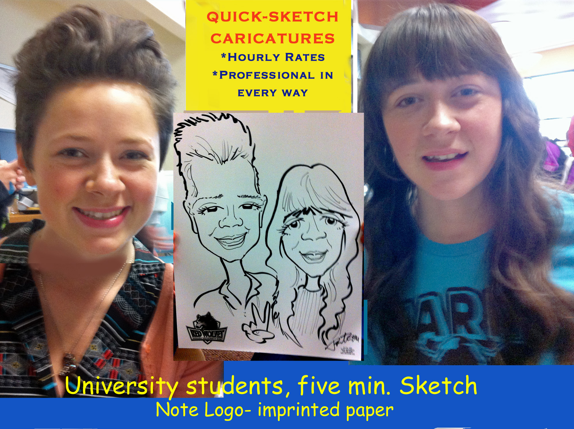 University Caricature Sketch
