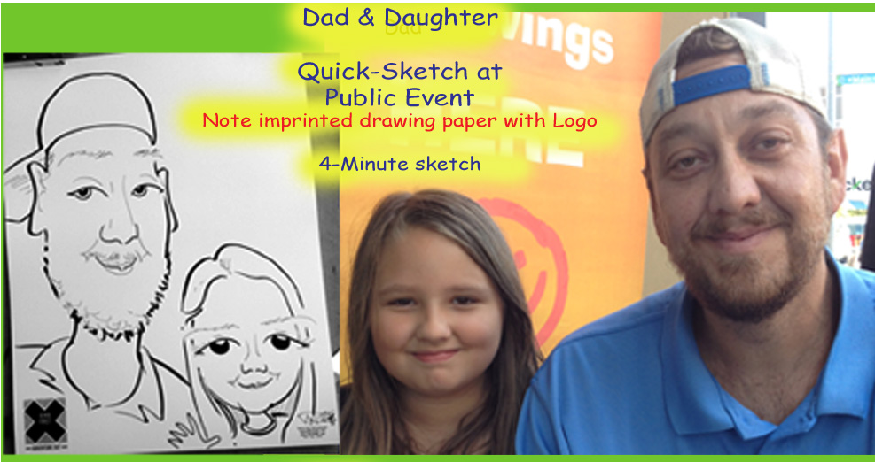 Father Daughter Caricature Entertainment