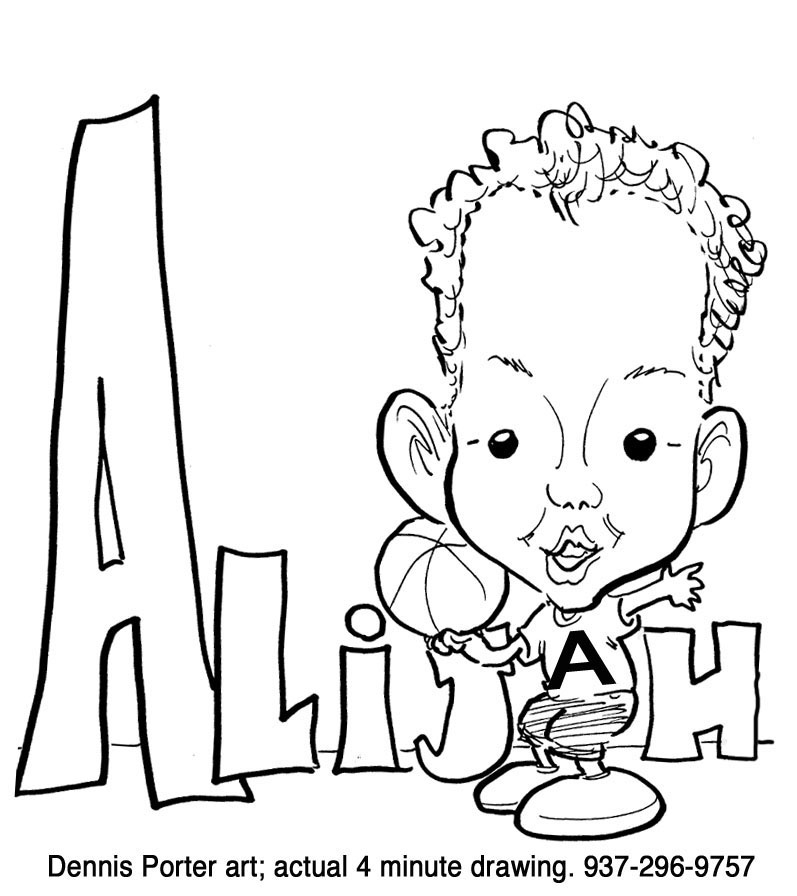 Caricatures Child Custom Name