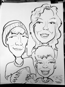 Caricatures_mom and sons drawing