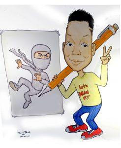 Ninja artist drawn from pics
