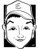 Caricatures_child with black area background