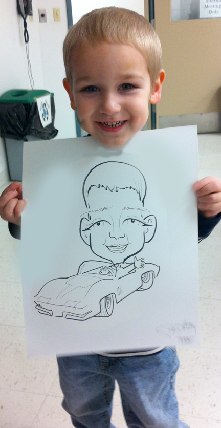 Little Boy Car Drawing