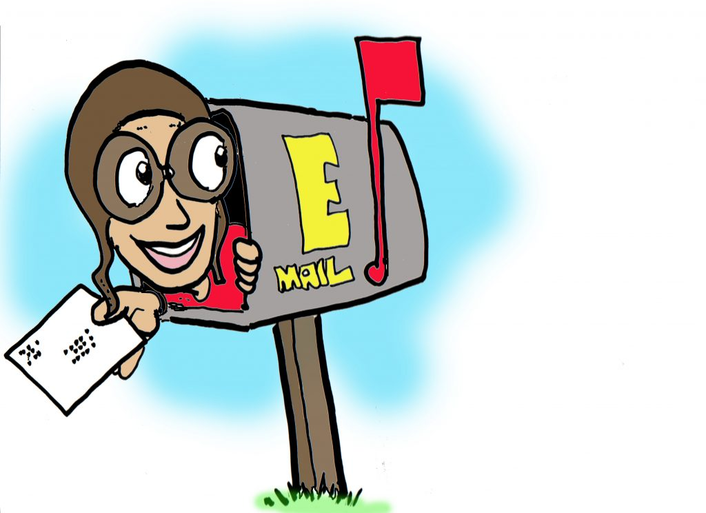 Mailbox drawing, caricatures at drawme.com