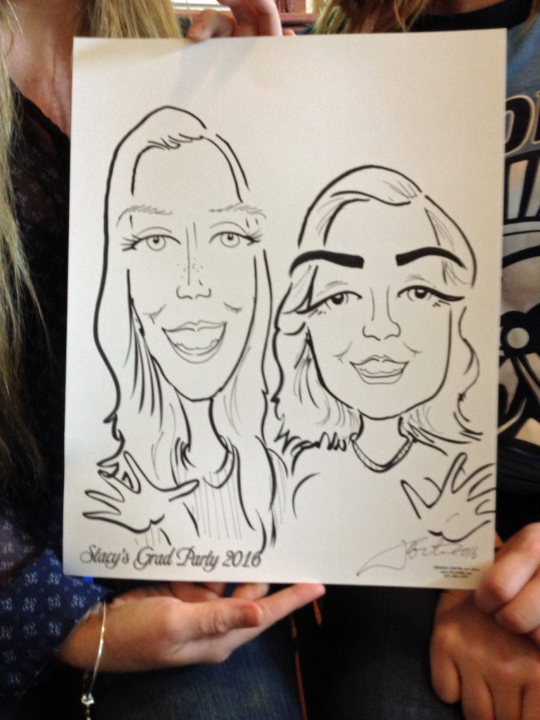 Graduation party caricature