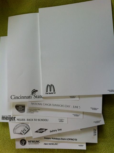 Imprinted Sketch paper for party entertainment