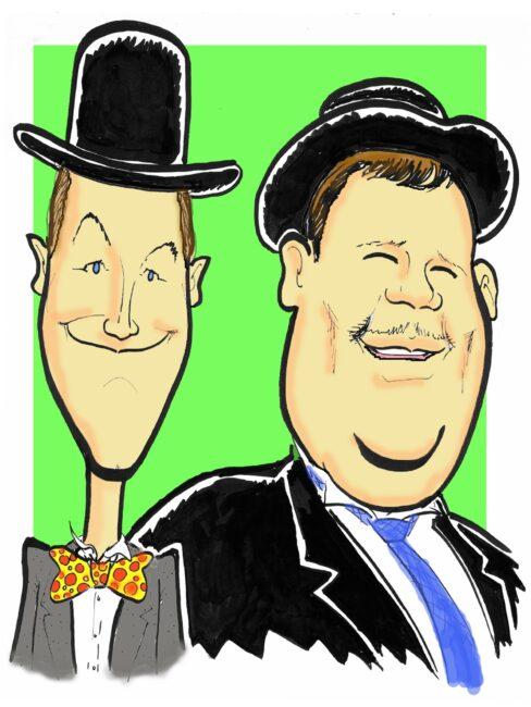 Laurel & Hardy caricature