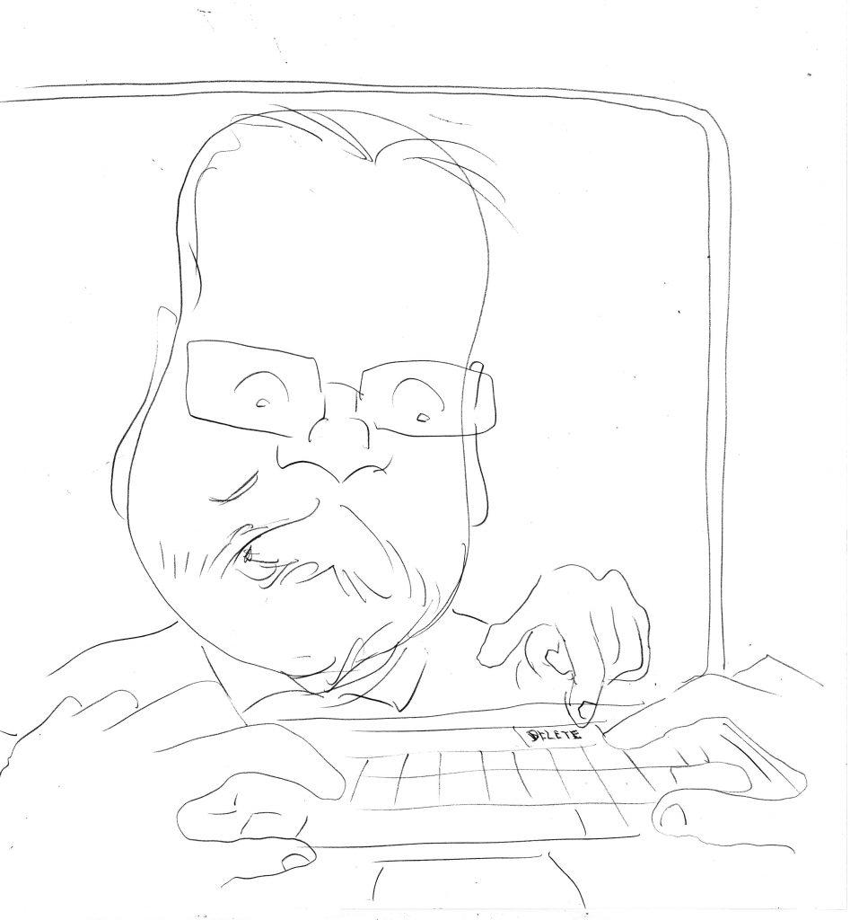 Caricature rough sketch