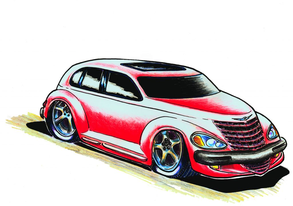 Chrysler PT Cruiser cartoon