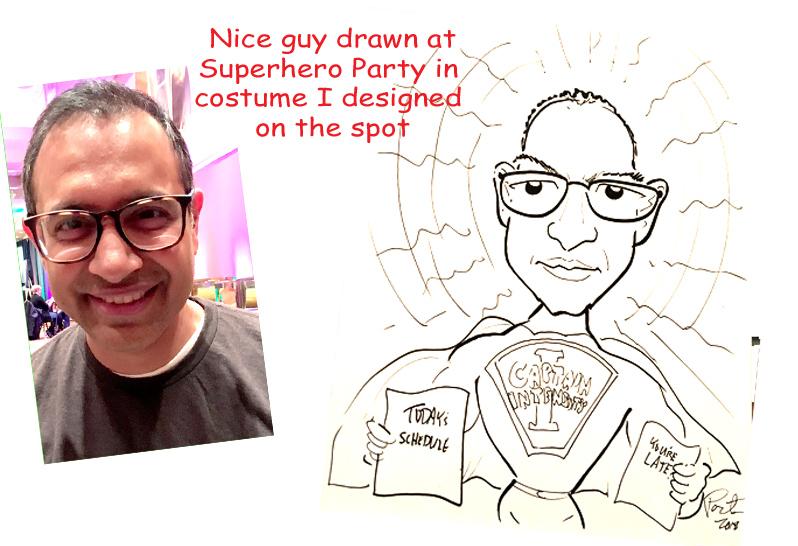 Man Drawn As Superhero