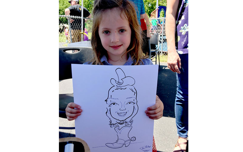 Birthday party entertainment child caricature