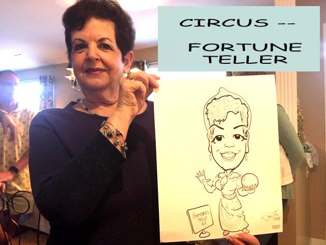 Fortune teller caricature